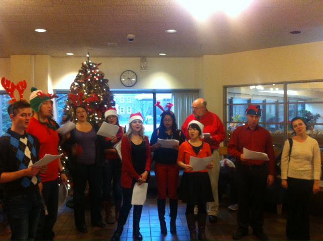 E.W. Bickle Centre Christmas Carol Singing December 2012