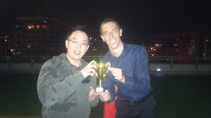 The 2013 Bocce Tourney Champs - Andrew and Ben