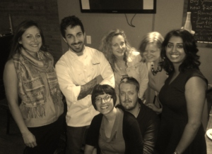 Chef Damien Wilmot with the Foodies of RCTS