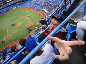 RCTS Club Service Chair Aaron at the Toronto Blue Jays Game.