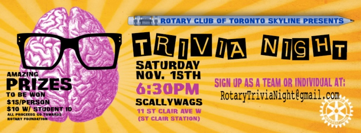 A Night of Trivia at Scallywags, Saturday November 15th at 6:30 p.m.