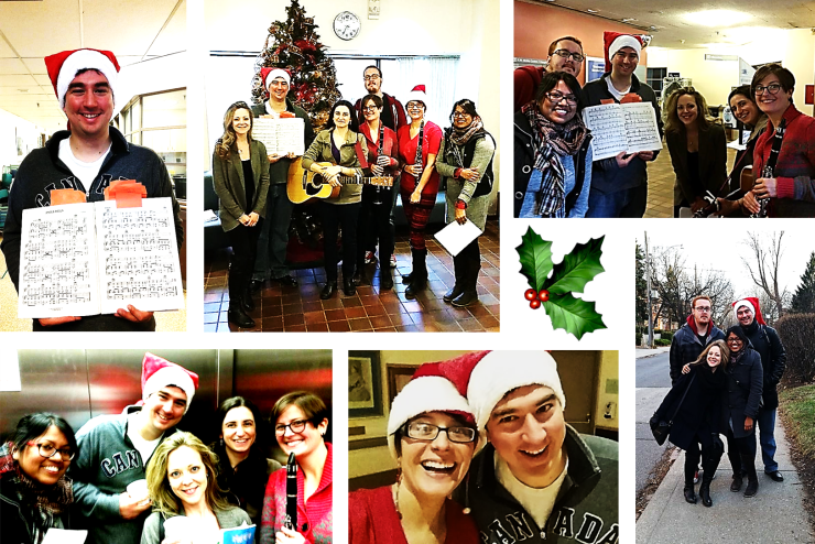 Winter carolling at the Bickle Centre with RCTS