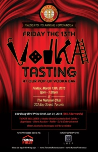 Friday the 13th Vodka Tasting with The Rotaract Club of Toronto