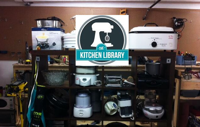The Kitchen Library welcomes you to borrow the tools you need to become the chef you know you are!