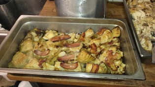 Cabbage with bacon - great idea Kevin!
